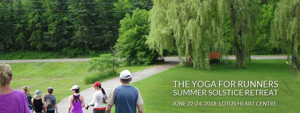 The Yoga for Runners Summer Solstice Retreat 2018