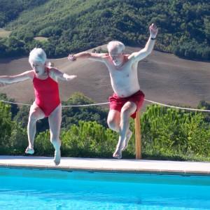 Retreaters having fun!