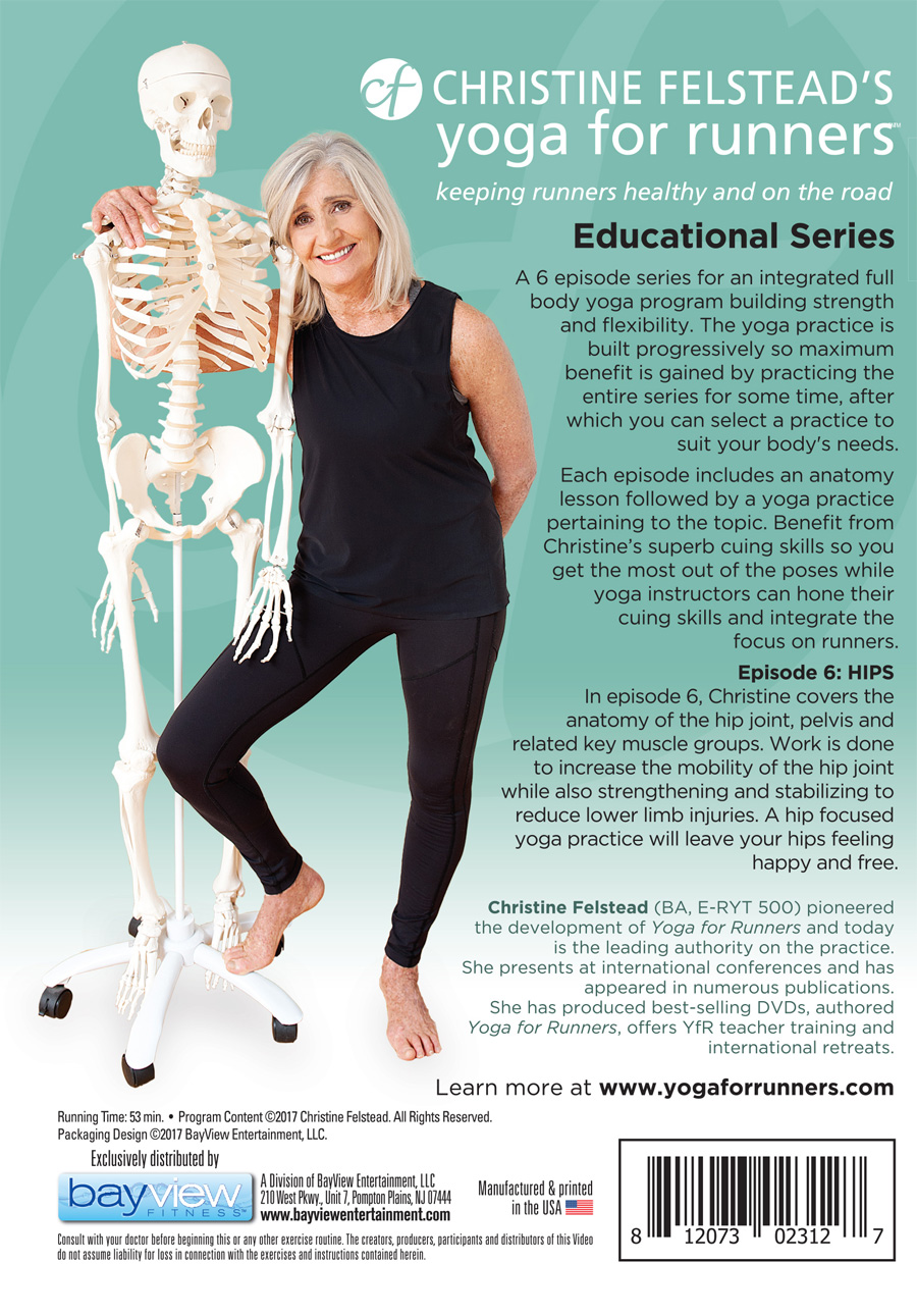 Yoga for Runners Educational Series - Episode 6, Hips back cover DVD