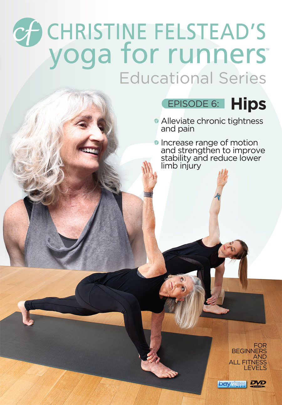 Yoga for Runners Educational Series - Episode 6, Hips front cover DVD