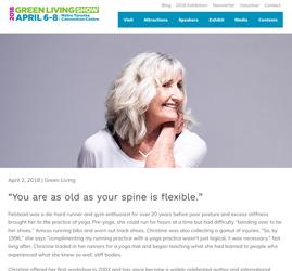 Green Living - Aging Gracefully Through Yoga
