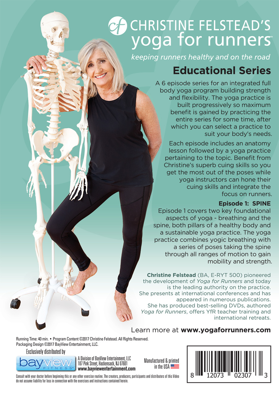 Yoga for Runners Educational Series - Episode 1: Spine back cover DVD