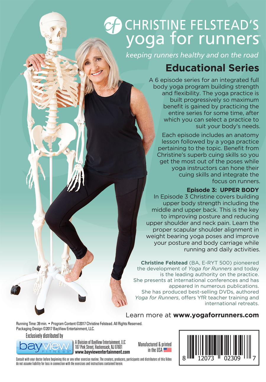 Yoga for Runners Educational Series - Episode 3, Upper Body back cover DVD