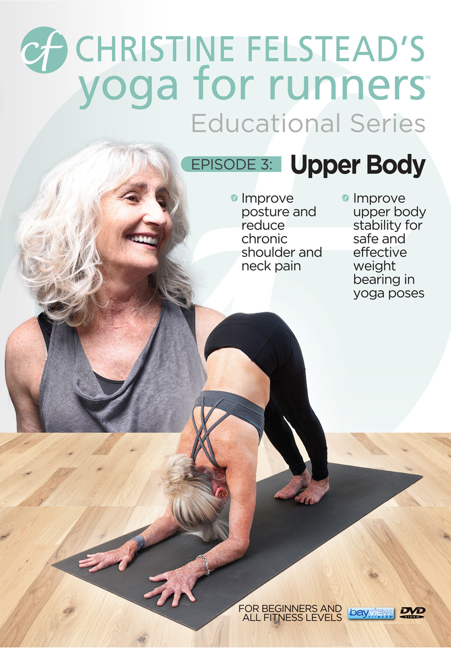 Yoga for Runners Educational Series - Episode 3, Upper Body front cover DVD