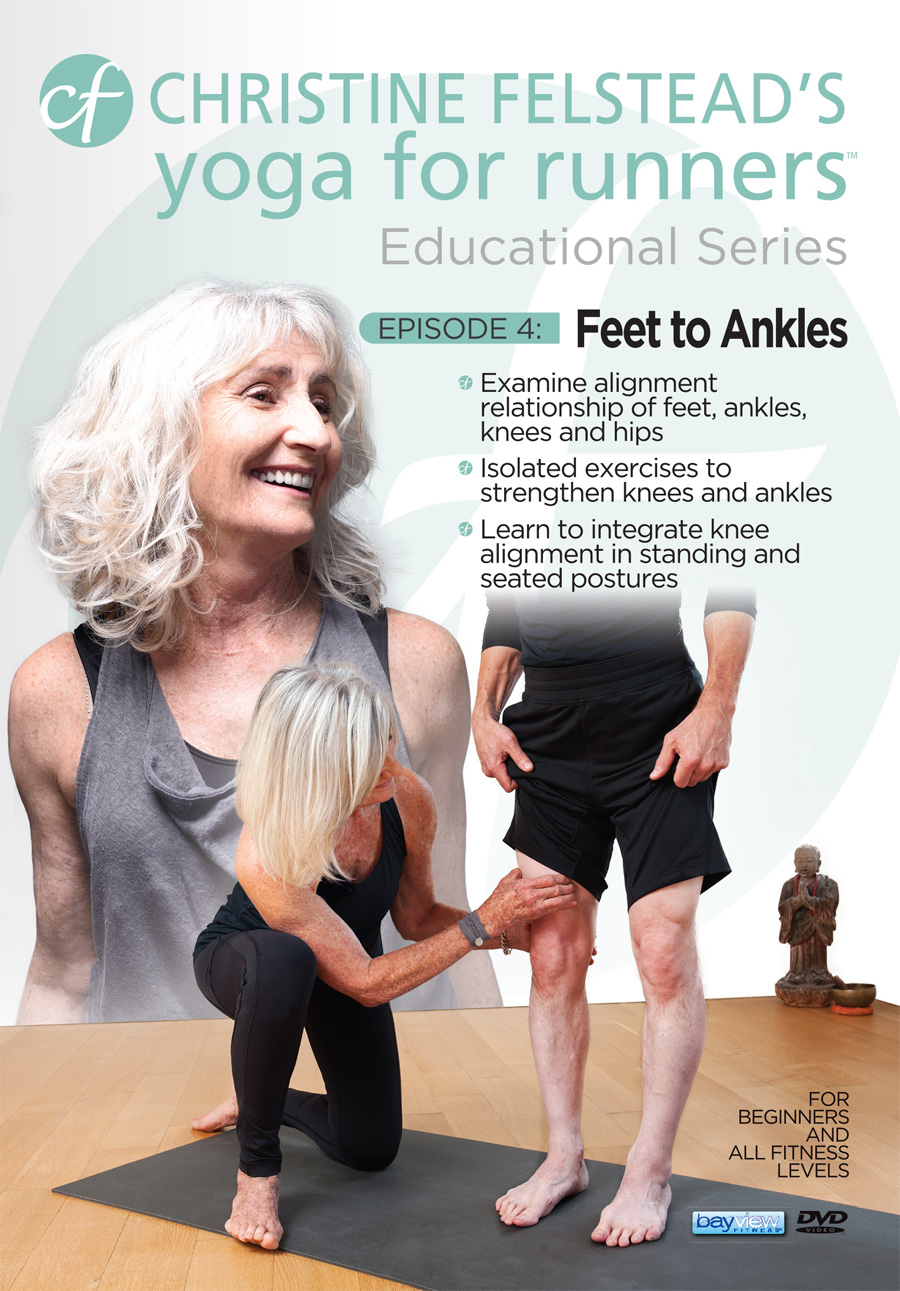 Yoga for Runners Educational Series - Episode 4, Feet to Knees front cover DVD