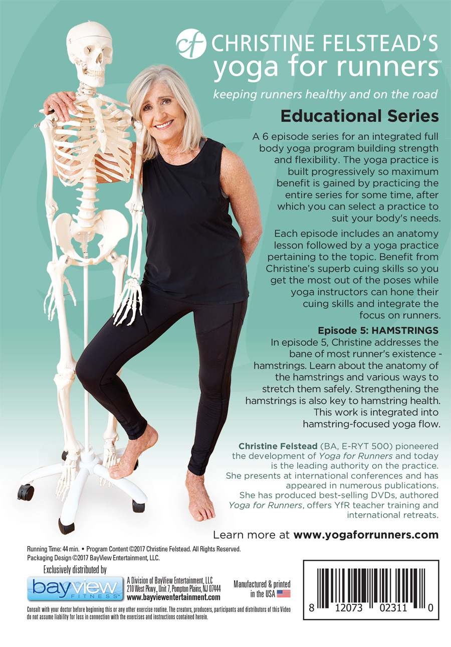 Yoga for Runners Educational Series - Episode 5, Hamstrings back cover DVD