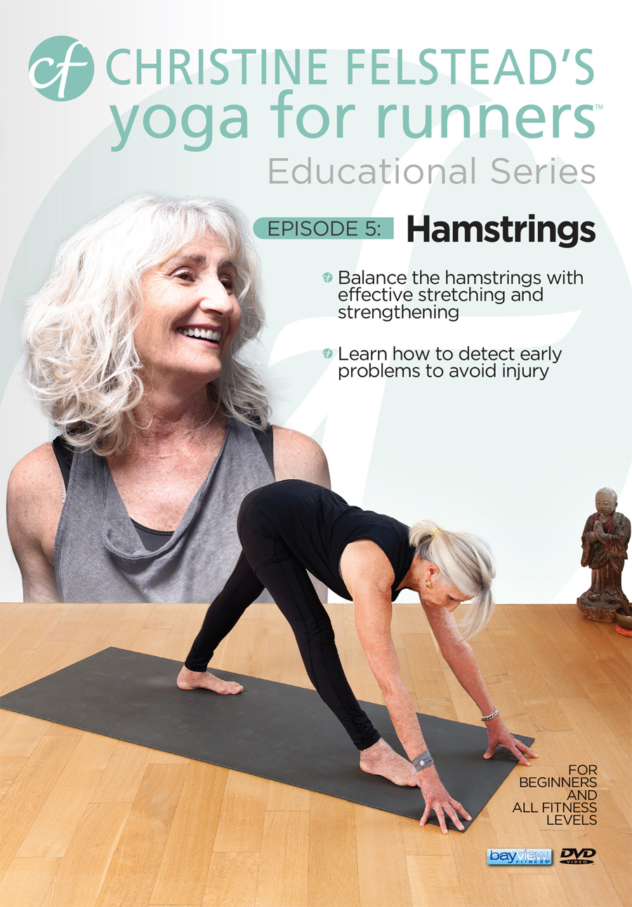 Yoga for Runners Educational Series - Episode 5, Hamstrings front cover DVD