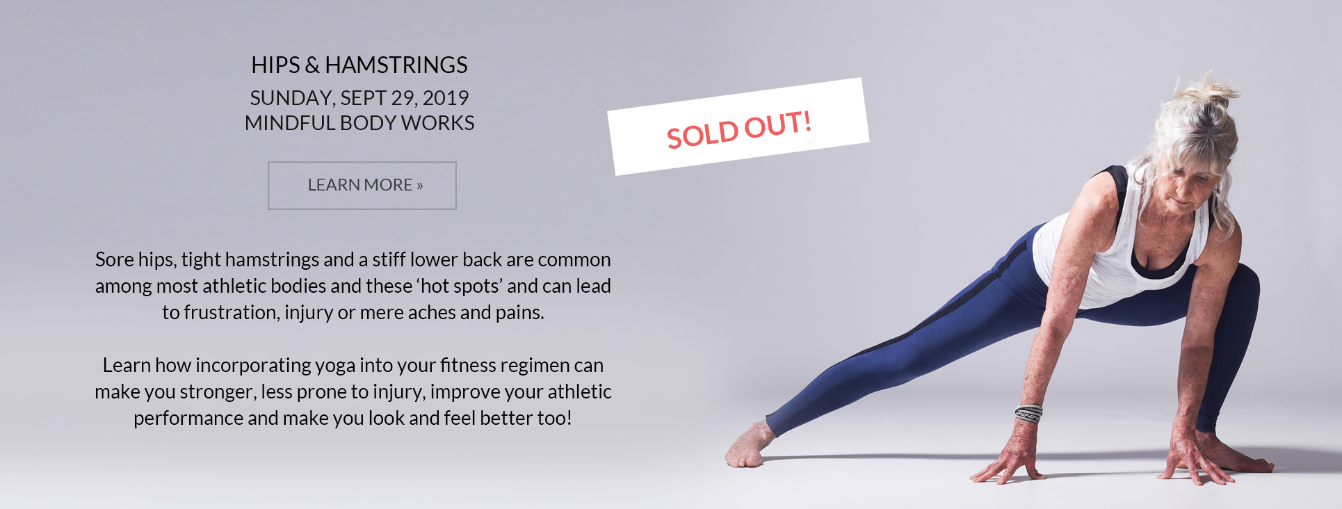 Hips and Hamstrings Workshop - Sold out!