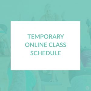 temporary online class schedule